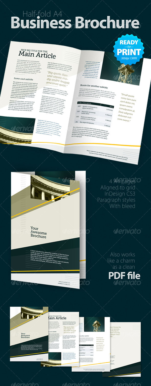 GraphicRiver Business Brochure 4 pages 84812