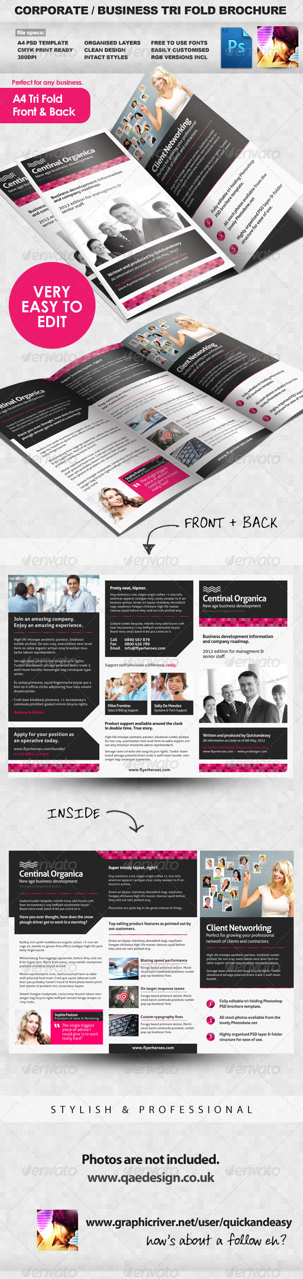 GraphicRiver Corporate Business Tri Fold Brochure 2278426