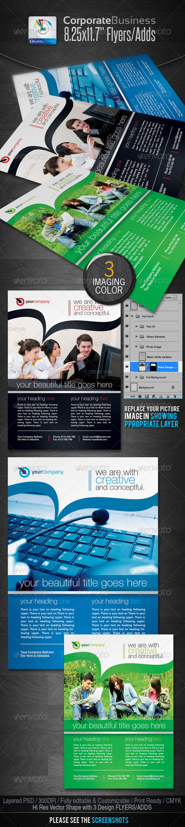 GraphicRiver Corporate Business Flyers Ads 2259415