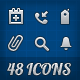 48 Vector Icons for Web and Native Projects - GraphicRiver Item for Sale