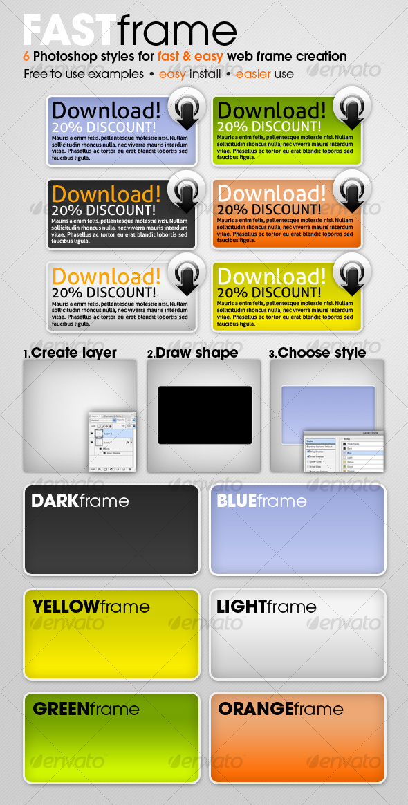 GraphicRiver FAST frame Photoshop styles 81362