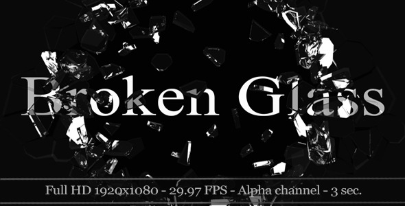 VideoHive 3D Broken Glass With Alpha 5-Pack 2279241