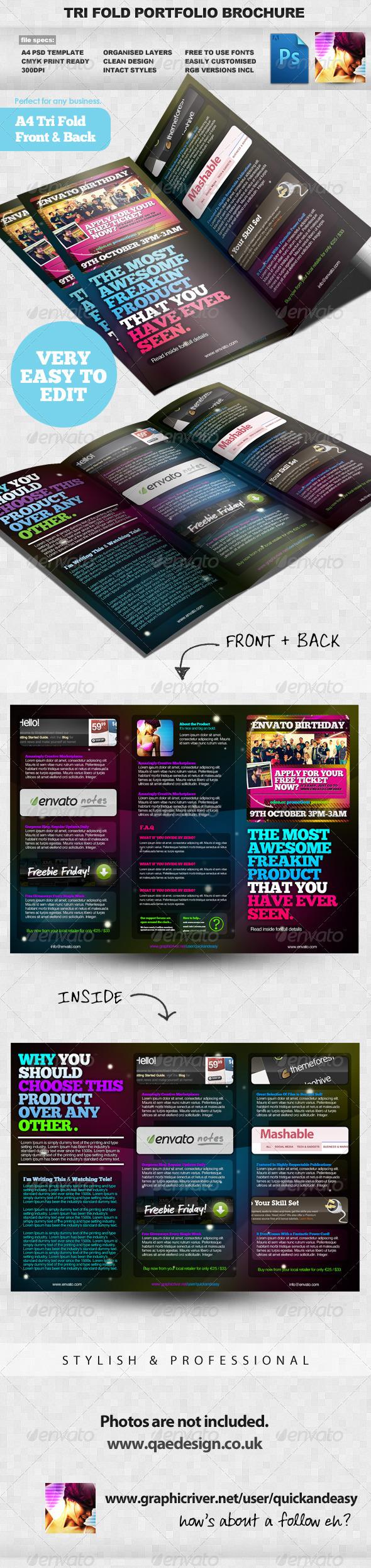 GraphicRiver Product Portfolio A4 Three Fold Brochure Layout 236687