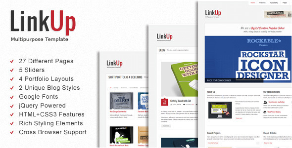 ThemeForest LinkUp Multipurpose HTML Template 2222718