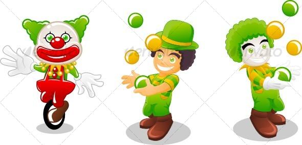 Graphic River clown Vectors -  Characters 84946
