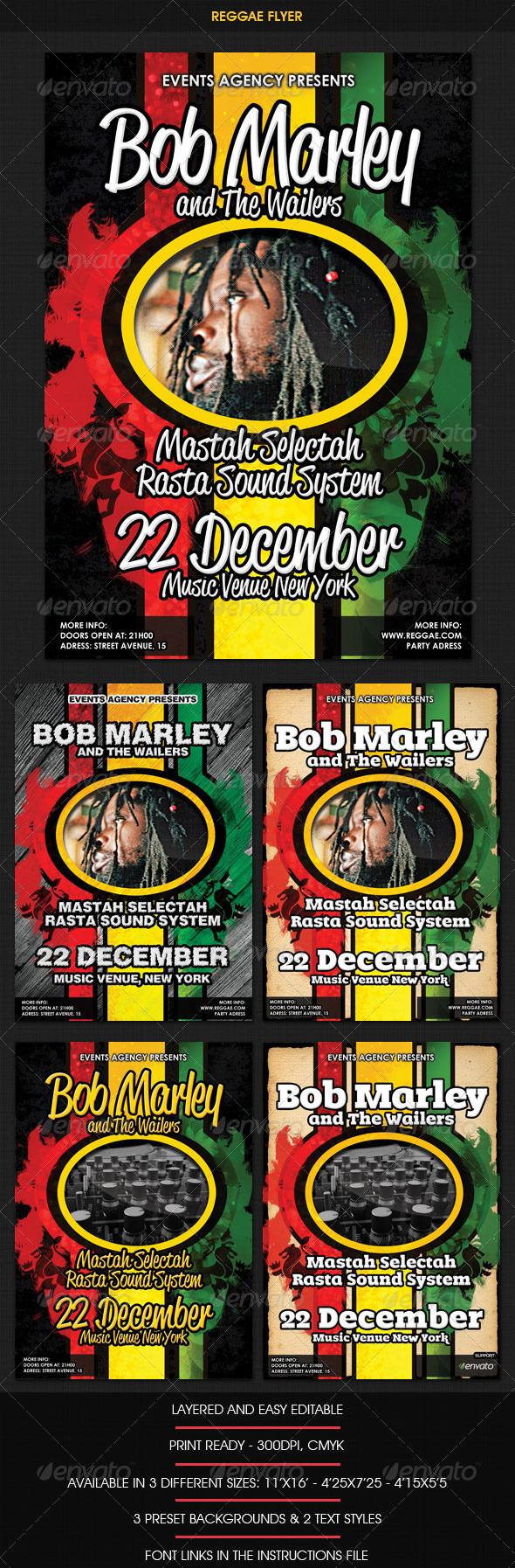 GraphicRiver Reggae Rasta Flyer 759259