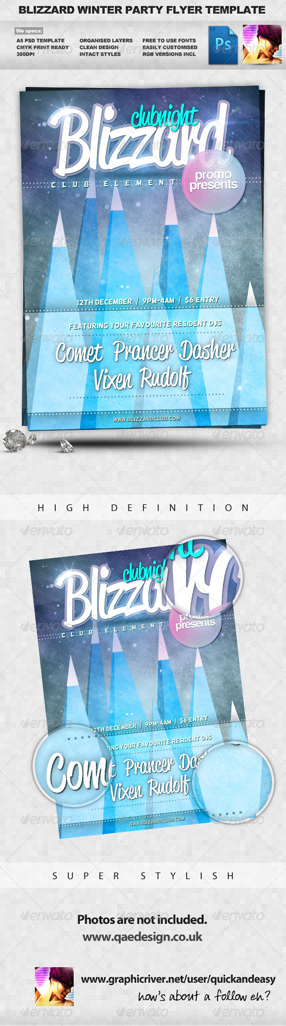 GraphicRiver Blizzard Winter A5 PSD Flyer Template 549741