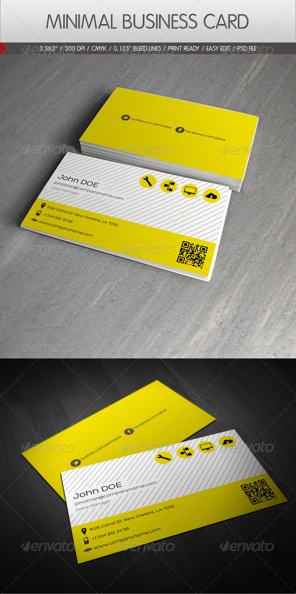 GraphicRiver Minimal Business Card 2282809
