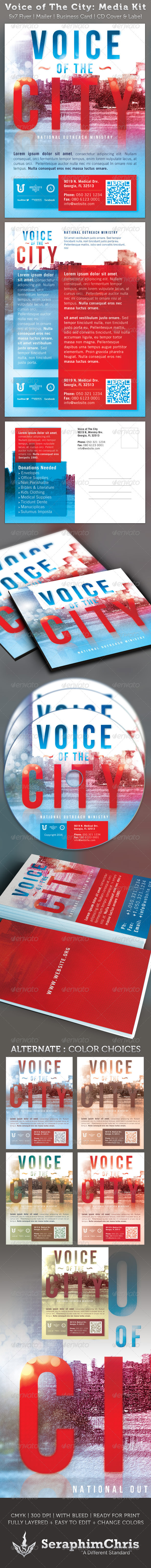 GraphicRiver Voice of The City Church Charity Media Kit 2283215