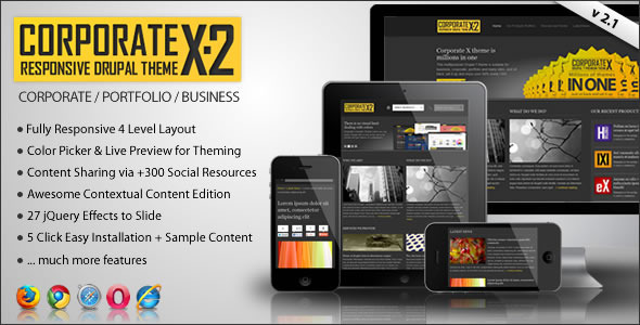 Corporate X - Multipurpose Drupal 7 Theme - ThemeForest Item for Sale