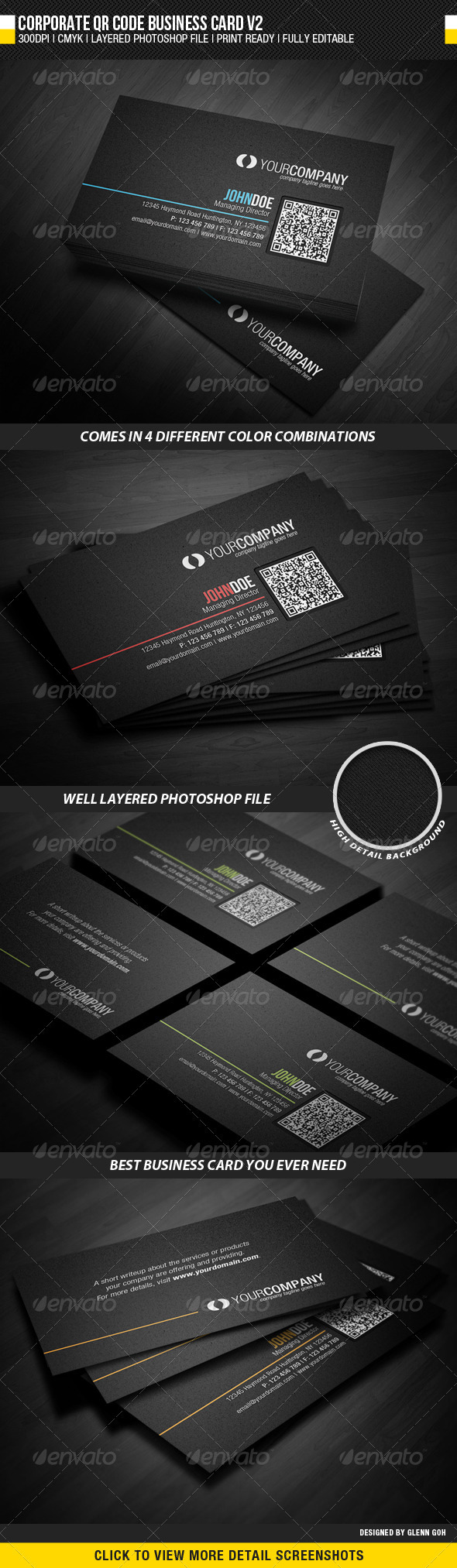 GraphicRiver Corporate QR Code Business Card V2 2283604