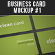 Business Card Mock-up #1 - GraphicRiver Item for Sale