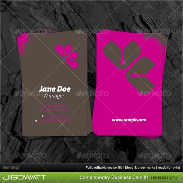 GraphicRiver Contemporary Business Card 83933