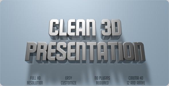 VideoHive Clean 3D Presentation C4D 2289919