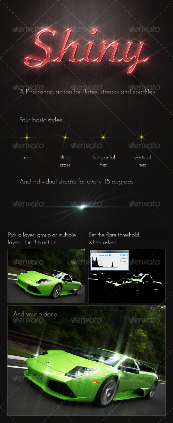 GraphicRiver Shiny Glow Streaks PS Action 2299216