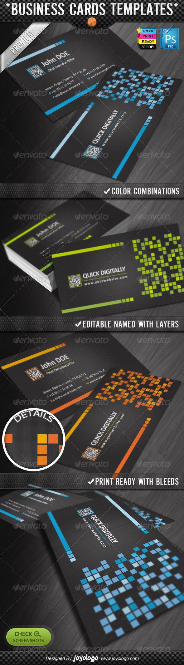 GraphicRiver Digitally Quick Response Business Cards Designs 2301371