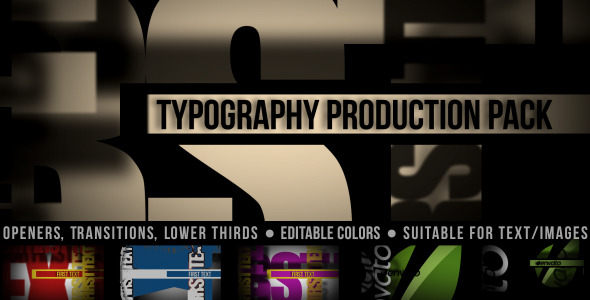 After Effects Project - VideoHive Typography Production Pack 2303906