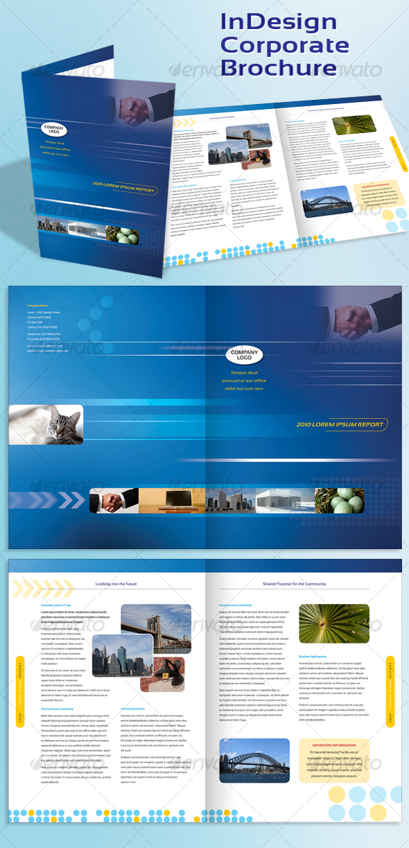 GraphicRiver Corporate A4 Brochure Indesign Template 85787