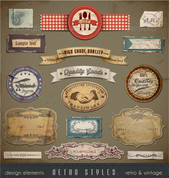 GraphicRiver Vintage And Retro Design Elements 2309582