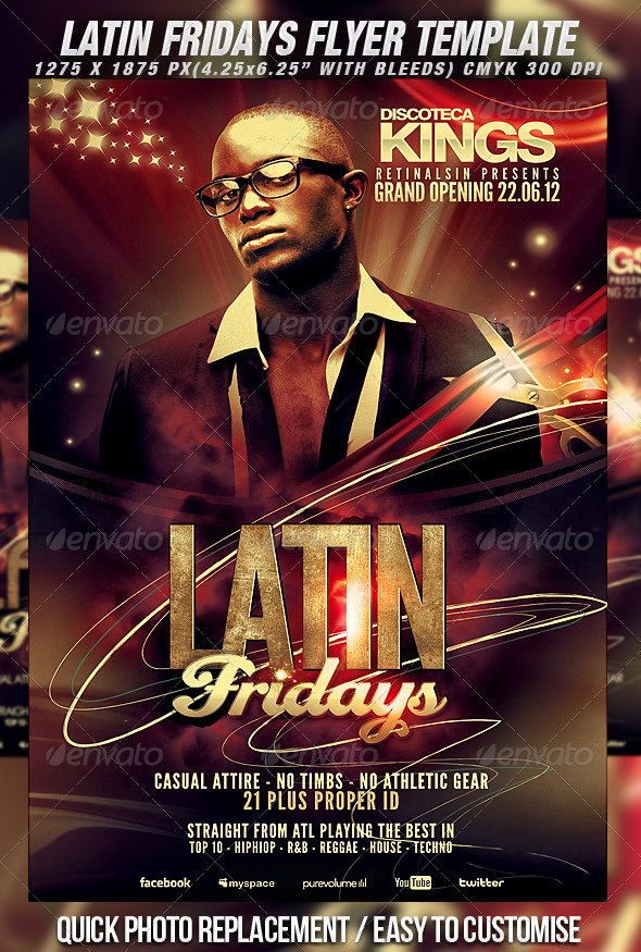 GraphicRiver Latin Fridays Flyer Template 2295301