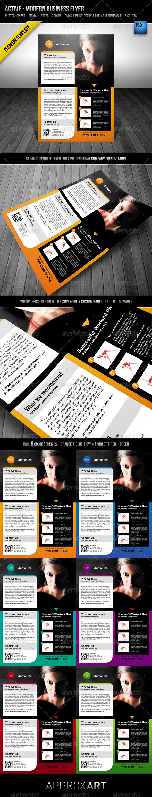 GraphicRiver Active Modern Business Flyer 2311051