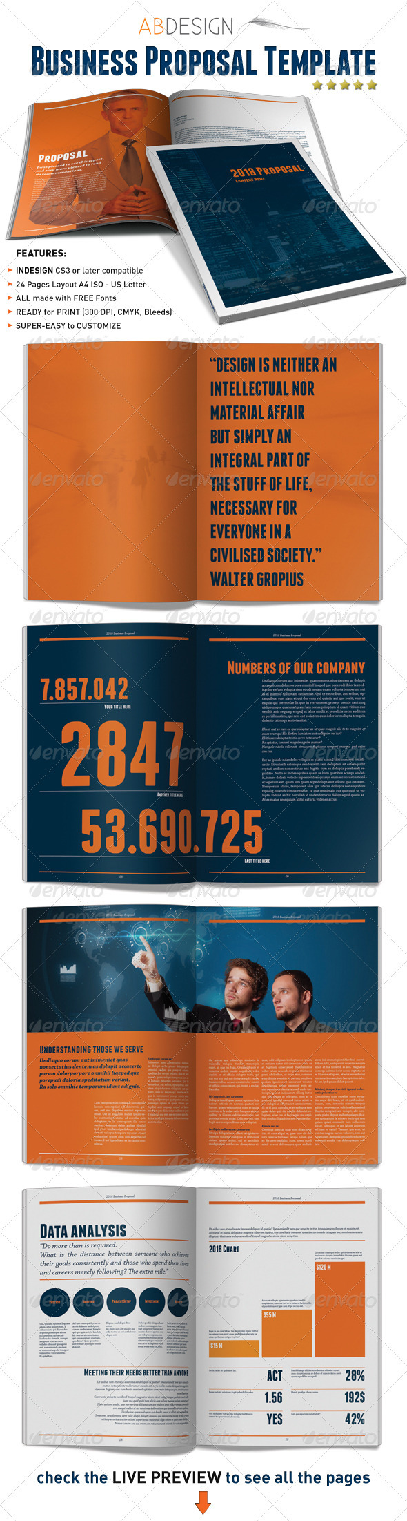 GraphicRiver Business Proposal Indesign Template 2035514