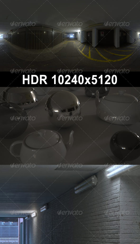 3DOcean HDR 110 Tunnel CG Textures -  HDRI Images  Interior 2311776
