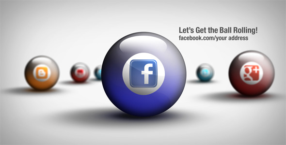 VideoHive Social Media Balls 2311785