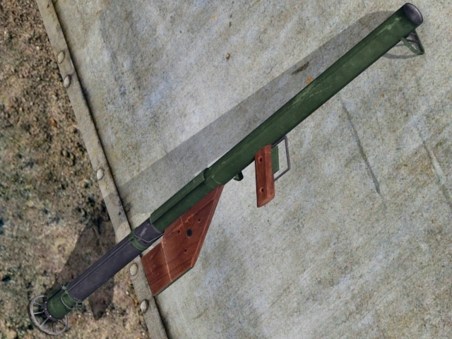 3DOcean M1A1 Bazooka 3D Models -  Weapons and Armor  Distance 2311790
