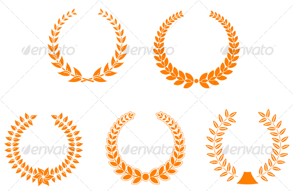 GraphicRiver Set of laurel wreaths 85981