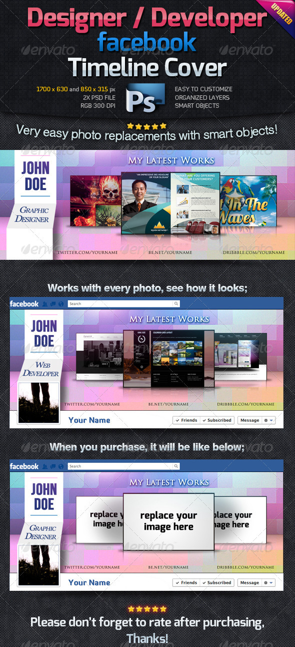 GraphicRiver Designer Developer Facebook Timeline Cover 2008200