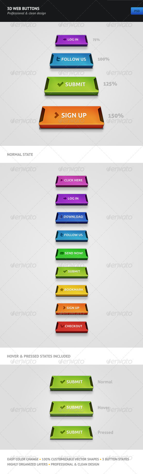 GraphicRiver 3D Web Buttons 493789