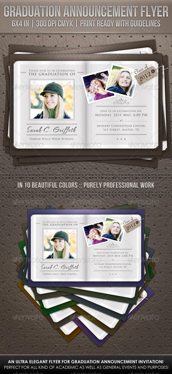GraphicRiver Graduation Announcement Flyer 2316766