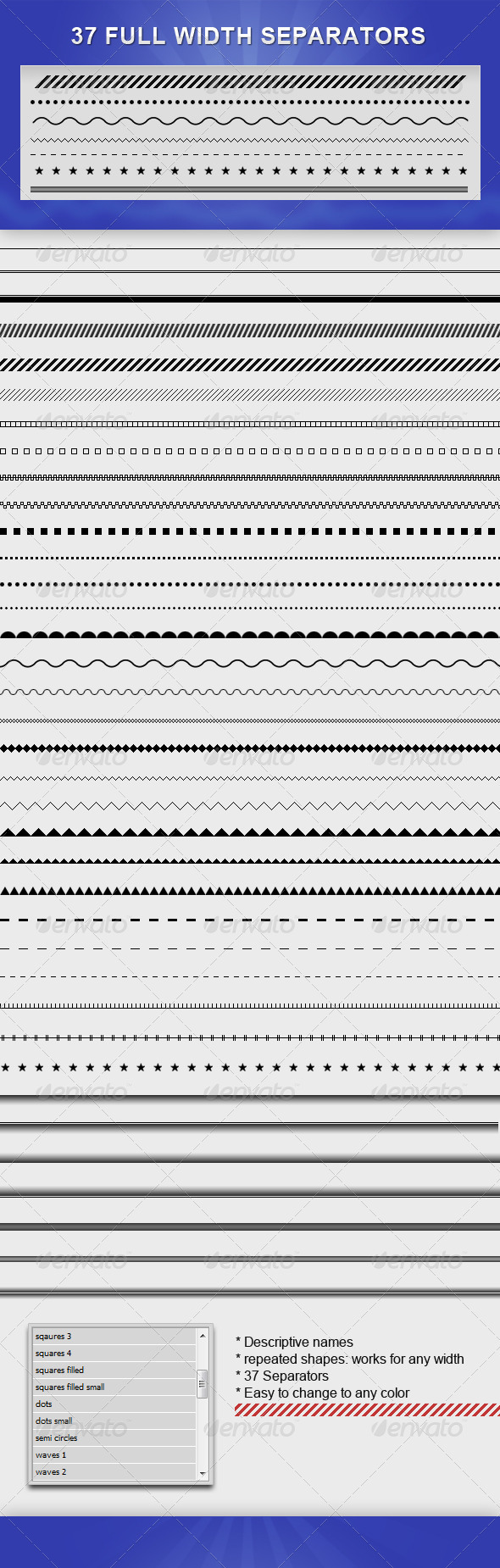 GraphicRiver Full Width Separators Pack 2261651
