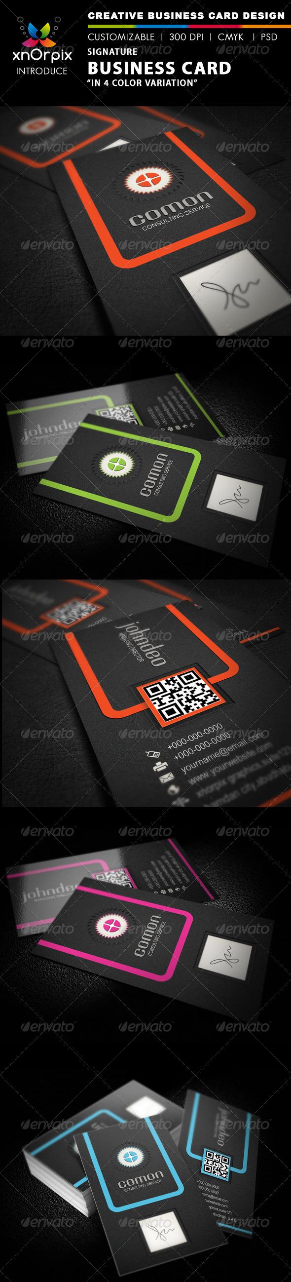 GraphicRiver Signature Business Card 2320305
