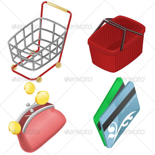 GraphicRiver Set of shopping icons 86213