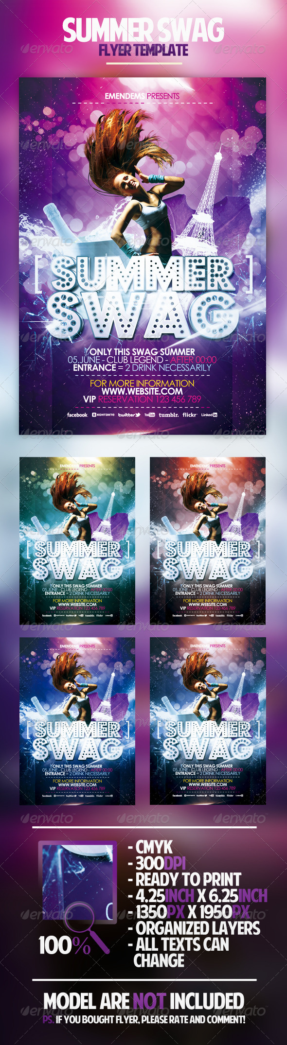 GraphicRiver Summer Swag Flyer Template 2320717