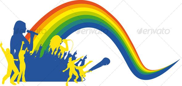 GraphicRiver Singing Rainbow 85935