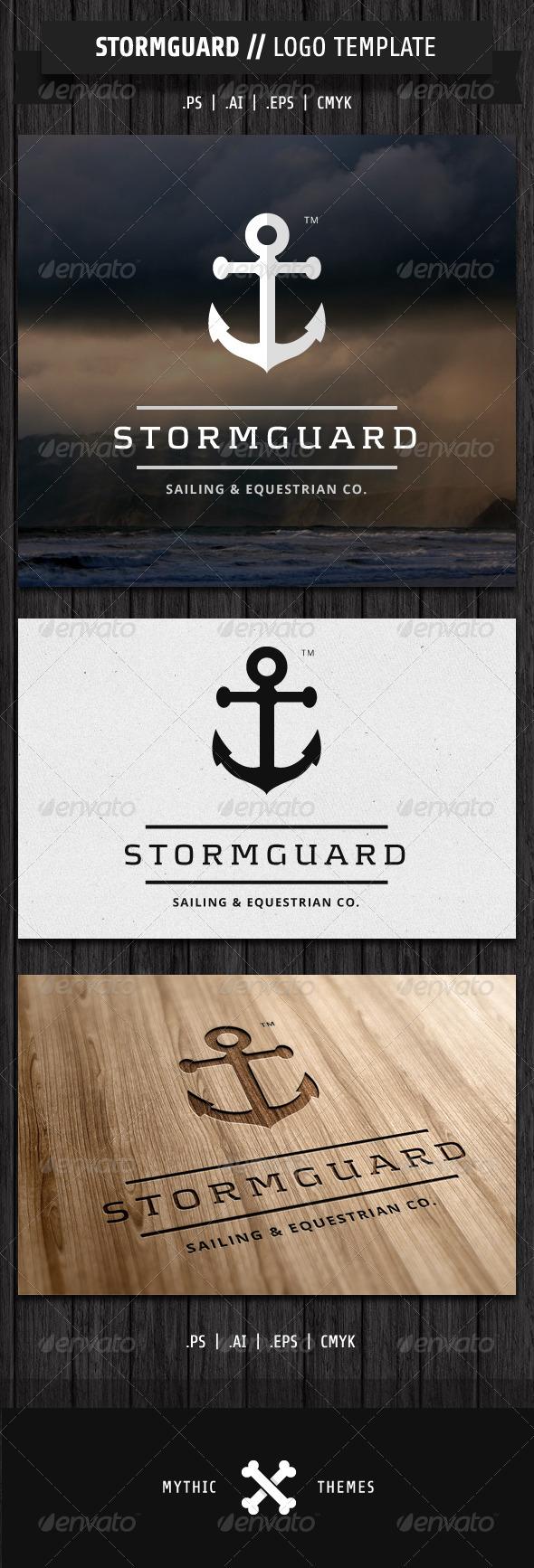 GraphicRiver Stormguard Sailing & Marine themed logo 2324225
