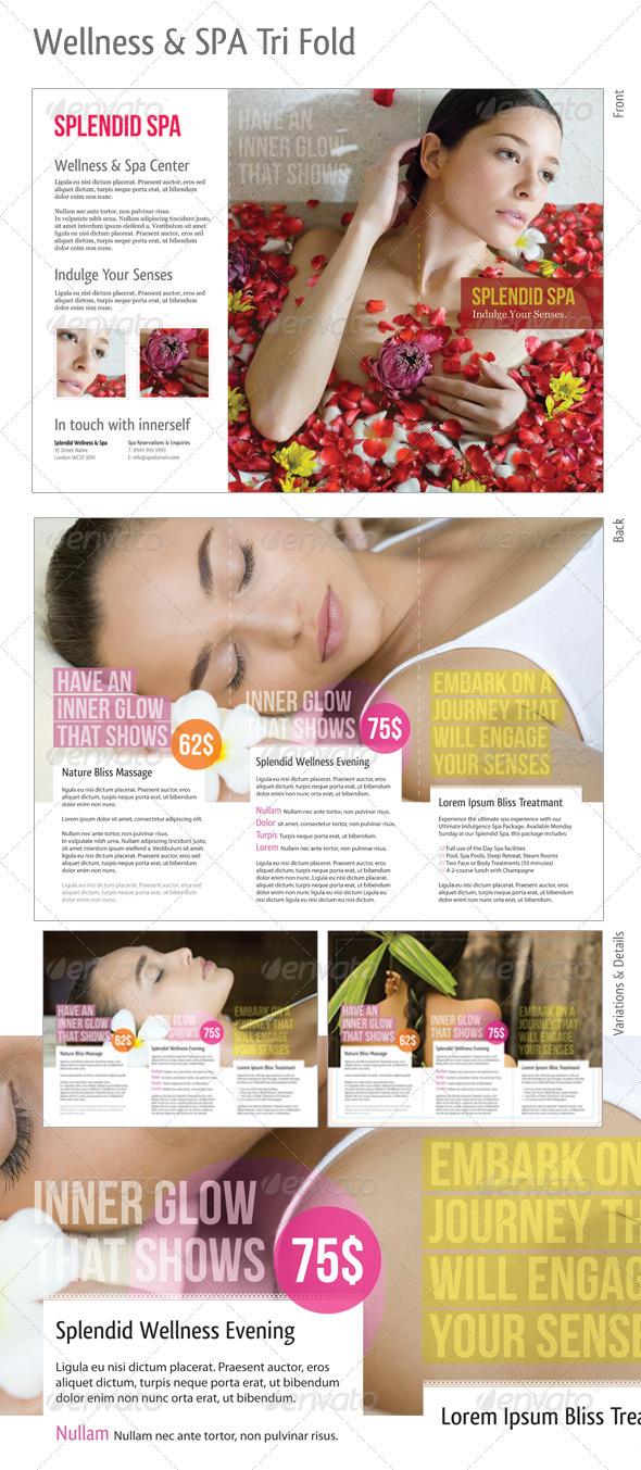 GraphicRiver Tri-fold Wellness & Spa 263265