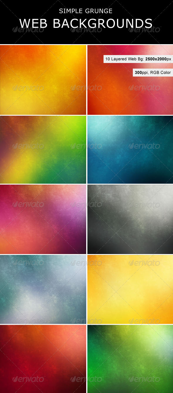 GraphicRiver Simple Grunge Backgrounds 263317