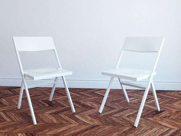 Piana Folding Chair Free 3d Model Alessi 187 Dondrup Com