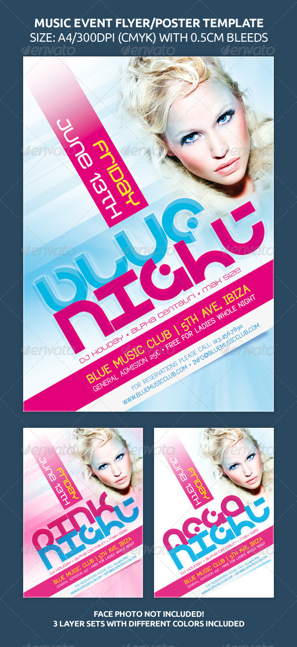 GraphicRiver Music Event Flyer Poster Template 263326