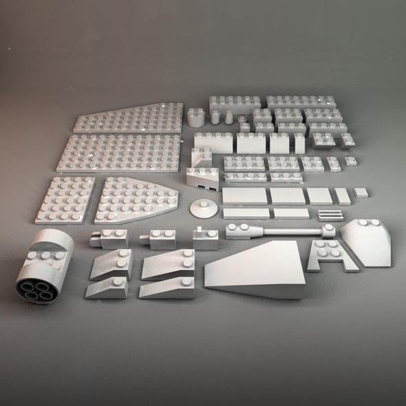 3DOcean Assorted Lego Bricks 86417