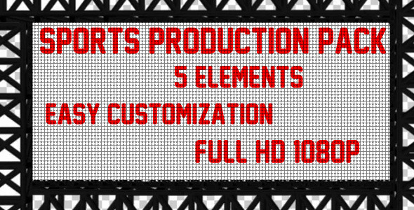 VideoHive Sports Production Pack 2327551