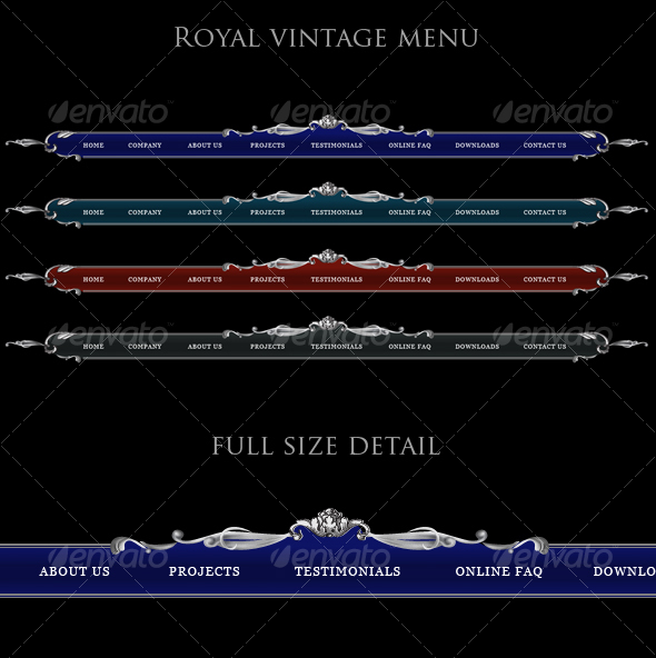 GraphicRiver Luxury site menu 86449