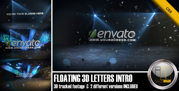 VideoHive Floating 3D Letters Intro 2330354