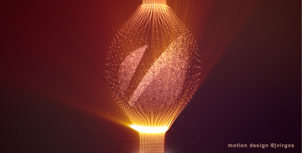 VideoHive Shiny Logo With Elegant Fine Particles 2332405