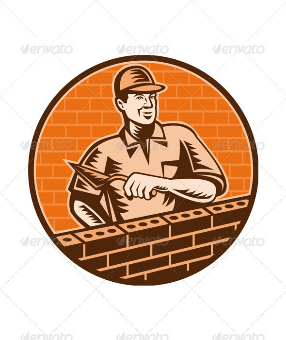 Graphic River Masonry Worker Vectors -  Conceptual  Business  Industries 2333154