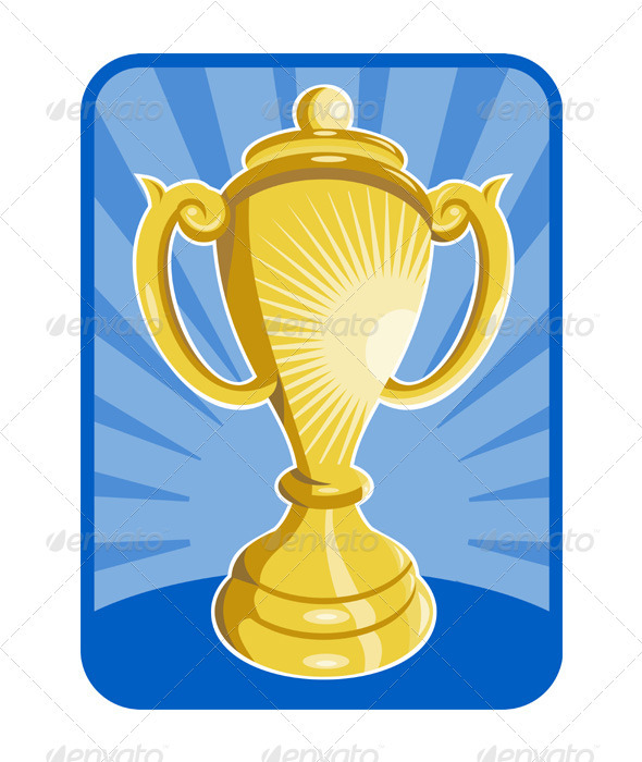 Graphic River Front View of a Trophy Cup Vectors -  Objects  Man-made objects 2333453